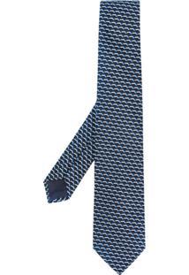 Giorgio Armani Gravata De Jacquard - Azul