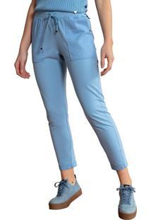 Calça Jogger Feminina Biamar Em Moletinho Azul Claro - P