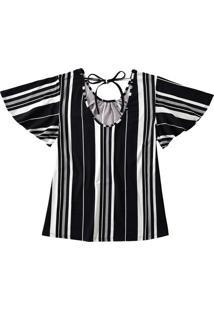 Blusa Estampada Franzidos Malwee