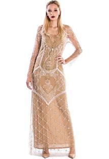 Vestido Tule Pedraria Fabiana Milazzo