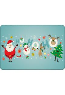 Tapete Sala Love Decor Papai Noel Azul