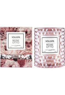 Vela Rose Ottoroses Collection Redoma Texturizada Geométrica 3D 55 Horas Voluspa