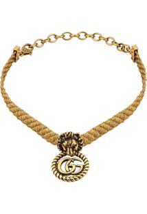 Gucci Choker Lion Head - Dourado