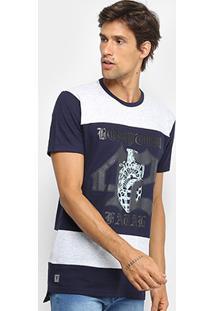 Camiseta Fatal Alongada Estampada Masculina - Masculino