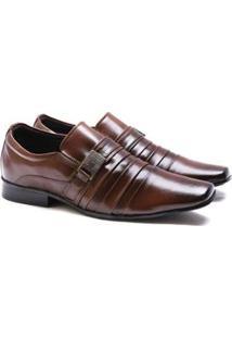 Sapato Social Versales 70019 Masculino - Masculino-Marrom Claro