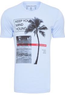 Camiseta Masculina Keep Your Mind - Azul