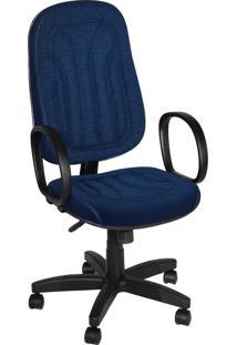 Cadeira Presidente Base Giratã³Ria C/ Bra Azul - Azul - Dafiti