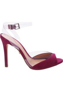 7d368f108 -50% Sandália Peep Toe Vinil Pink | Schutz R$390 ...