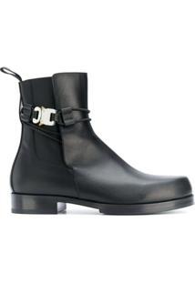 1017 Alyx 9Sm Buckle-Strap Ankle Boots - Preto