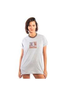 Camiseta Feminina Mirat No Time For Drama Mescla
