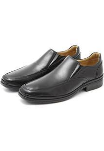 Sapato Masculino Em Couro Lev Super Confort - Masculino-Preto