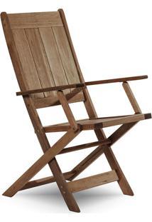 Cadeira Dobrável Com Braços Acqualung ? Mão E Formão - Nogueira