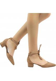 Sapato Zariff Shoes Scarpin Lace Up Em Suede