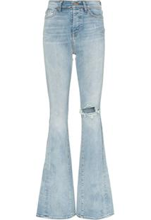 Amiri Calça Jeans Bootcut Cintura Alta - Azul