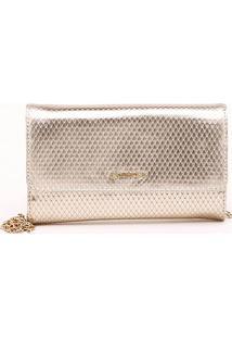 Bolsa Shoulder Bag Snake Metalizada Ouro Claro - P