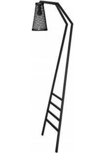 Luminaria Revisteiro Sampa Com Estrutura Em Tubo Redondo Cor Preto 1,70 Mt (Alt) - 53602 - Sun House