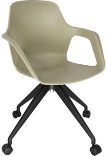 Cadeira De Cozinha Giratória Beau Com Braço Cappuccino E Preta