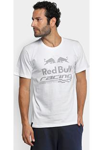 Camiseta Red Bull Racing Estampa Contraste Masculina - Masculino