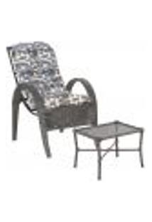 Jogo Cadeira 1Un E Mesa P/ Jardim Edicula Varanda Descanso Trama Napoli Plus Tabaco A25