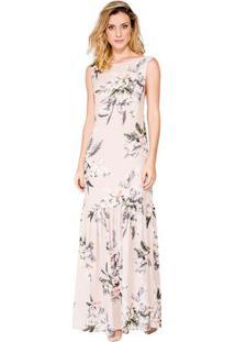Vestido Evasê Print Floral Tulipas Alphorria A.Cult