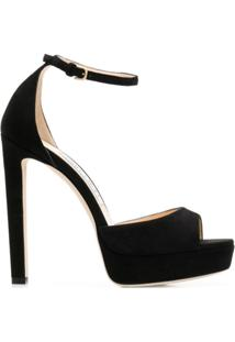 Jimmy Choo Sandália Pattie 130 - Preto