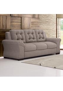 Sofá De 3 Lugares Martano – Linoforte Moveis - Bege