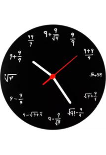 Relógio De Parede Fórmula 9 Geek10 - Preto