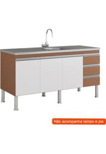 Balcão De Cozinha Ibiza 3 Pt 3 Gv Amêndoa E Branco