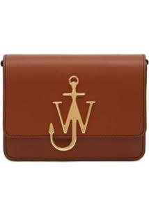 Jw Anderson Bolsa Transversal Com Logo - Marrom