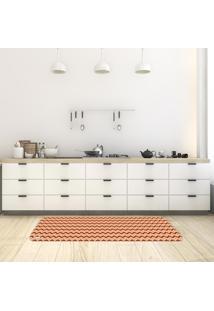 Tapete De Cozinha Mdecore Chevron Colorido 40X120Cm