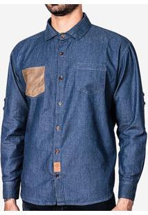 Camisa Bolso Suede 200030