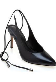 Sapato Morena Rosa Chanel Com Amarração Preto