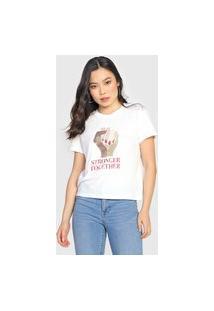 Camiseta Gap Stronger Together Off-White