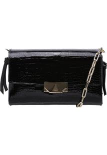 Clutch Crossbody Corrente Croco Black Sing Your Love | Schutz