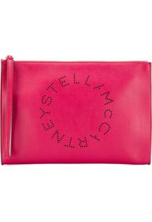 Stella Mccartney Clutch Monogramático - Rosa