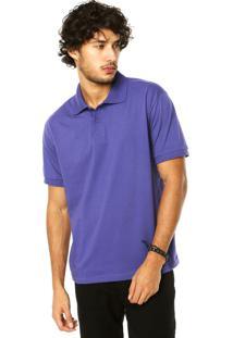Camisa Polo Dafiti I.D. Roxa
