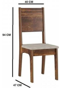 Conjunto Mesa Peróla Tampo Mdf/Mdp 6 Cadeiras Firenze Sonetto Móveis