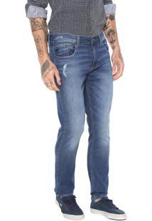 Calça Jeans Lacoste Slim Azul