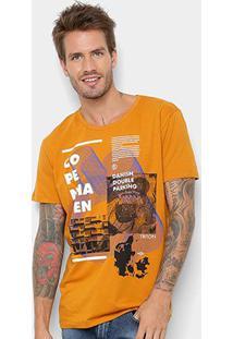 Camiseta Manga Curta Triton Estampada Copenhagen Masculina - Masculino-Amarelo