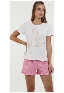 Pijama Feminino A Dama E O Vagabundo Manga Curta Disney