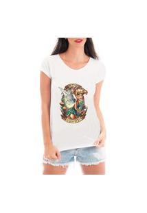 Camiseta Criativa Urbana Fadinha Branca