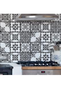 Papel De Parede Azulejo Preto E Branco