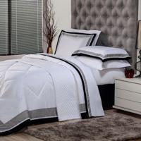 50a6db4224 Edredom Solteiro Soft Comfort Poliéster Branco
