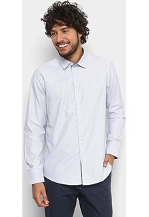 Camisa Maquinetada Aleatory Manga Longa Masculina - Masculino