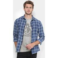 6905bbc691d86 Camisa Replay Chess Washed Masculina - Masculino