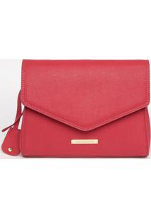 Bolsa Com Pespontos & Bag Charm- Vermelha- 22X25X11Cloucos E Santos