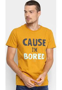 Camiseta Colcci Estampada Masculina - Masculino-Amarelo