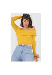 Blusa Colcci Recorte Ombro Amarela