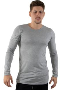 Camiseta Rioutlet Oversized Longline Cinza