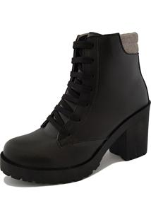 Bota Navit Shoes Tratorada Fosco Preto